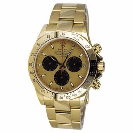 Rolex Daytona Newman 116528 18K Yellow Gold F Serial Swiss Automatic Chronograph 40mm Watch