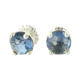 Ippolita Rock Candy Sterling Silver London Blue Topaz Mini Stud Earrings
