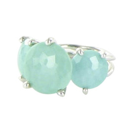Ippolita Rock Candy Sterling Silver 3-Stone Turquoise Split-Shank Size 7 Ring