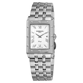 Raymond Weil Tango 5381-ST-00658 Silver Dial Stainless Steel Bracelet Mens 29mm Watch