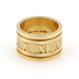 Tiffany & Co. Atlas 18K Yellow Gold Italy Band Ring Size 6