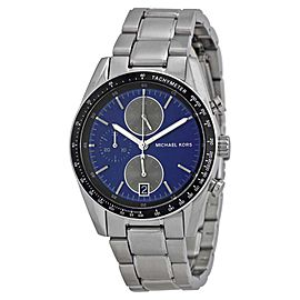 Michael Kors MK8367 Accelerator Blue Dial Stainless Chronograph 38mm Mens Watch