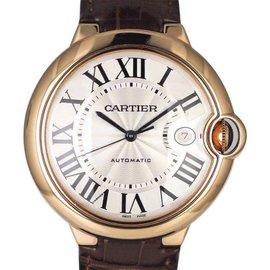 Cartier Ballon Blue W6900651 18K Rose Gold 42mm Mens Watch