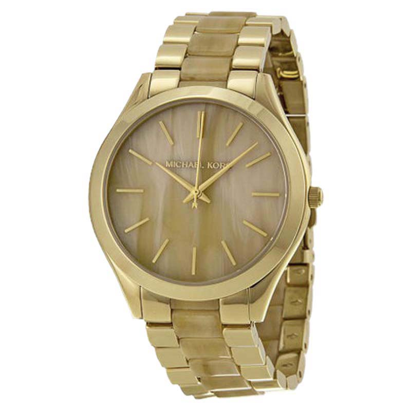 "Image of ""Michael Kors Mk4285 Stainless Steel Champagne Dial 42mm Womens Watch"""