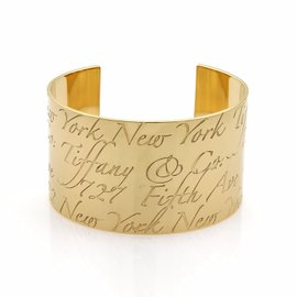 Tiffany & Co. 18K Yellow Gold Wide Cuff Band Bracelet