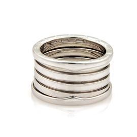 Bulgari B Zero-1 18K White Gold Band Ring Size 7.5