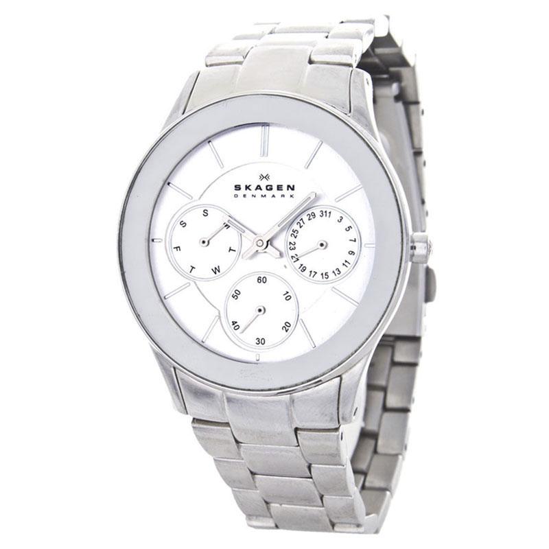 "Image of ""Skagen 344Lsxs Stainless Steel Silver Dial 34mm Women's Watch"""