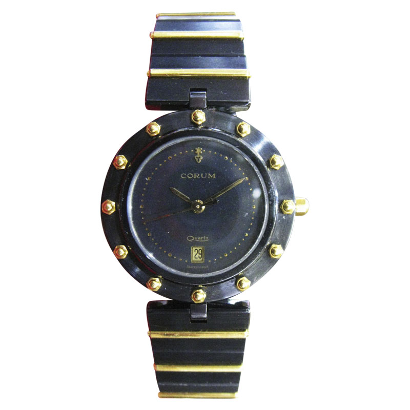 """Image of """"Corum Clipper Club Stainless Steel & 18K Yellow Gold 30mm Womens Watch"""""""