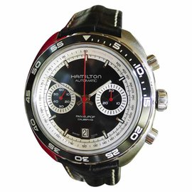 Hamilton Pan Europ H357560 Stainless Steel & Leather Chronograph Automatic 46mm Mens Watch