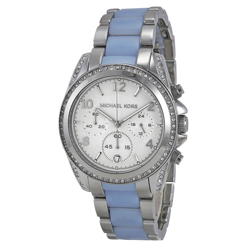 "Image of ""Michael Kors Mk6137 Blair Silver Dial Stainless Steel Chronograph 39mm"""