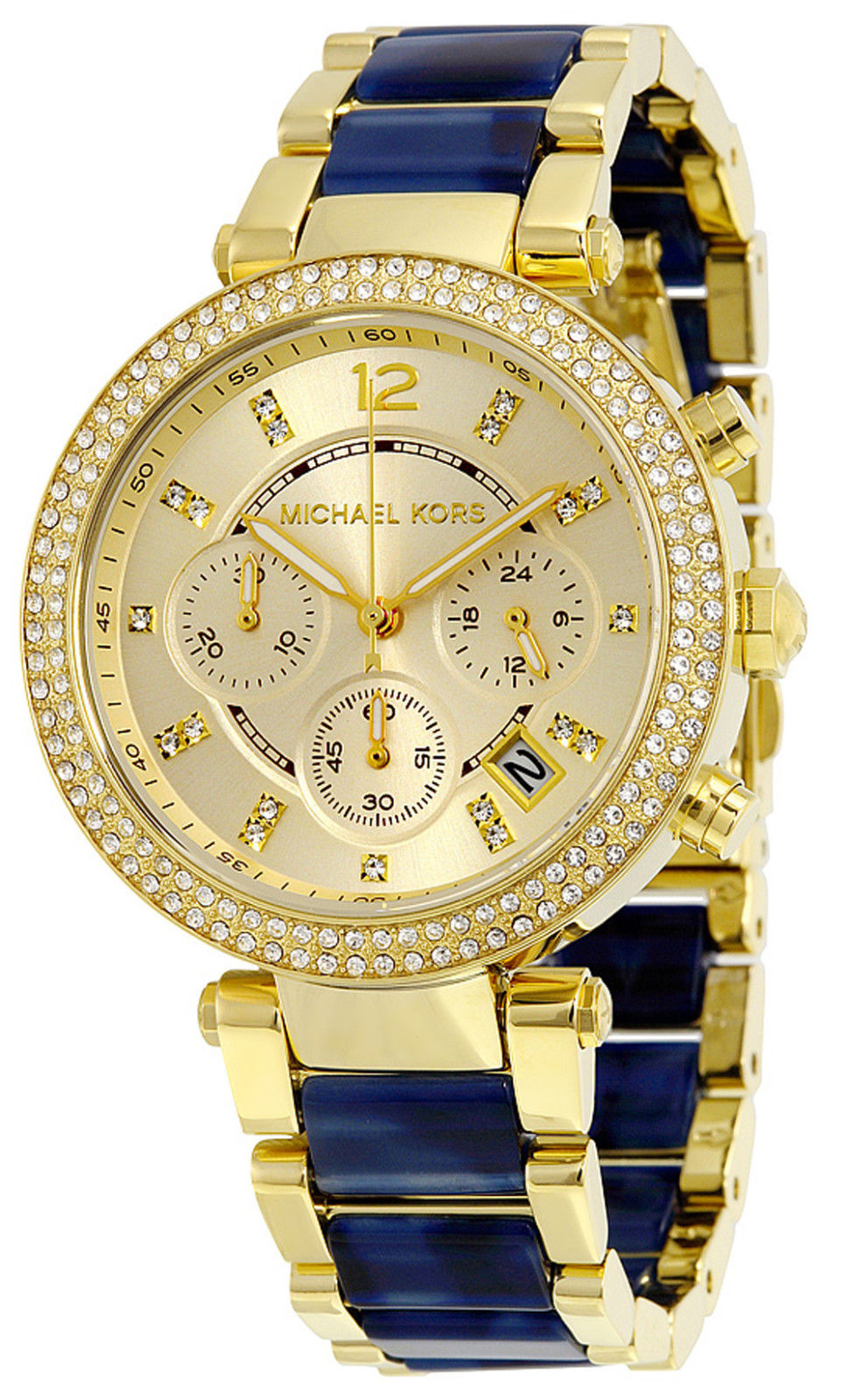 "Image of ""Michael Kors Mk6238 Parker Champagne Dial Gold Plated Stainless Steel"""