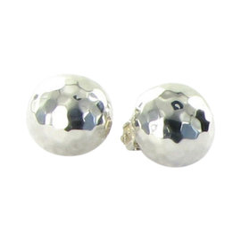 Ippolita Glamazon Sterling Silver Button Clip-On Earrings