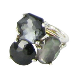 Ippolita Rock Candy SR745blacktie Sterling Silver Multi-gem Cluster Ring Size 6