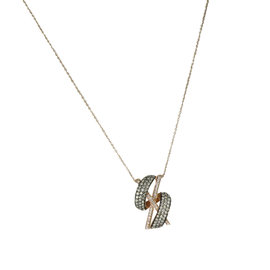 Le Vian 14K Rose Gold Ocean Wave Gladiator 1.11ct. Diamonds Pendant Necklace