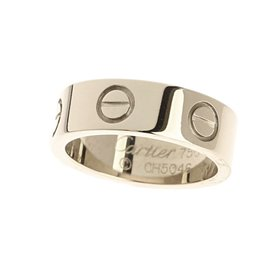 Cartier 750 White Gold Ring Size 4