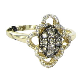 Le Vian 14K Yellow Gold Diamonds Ring Size 7