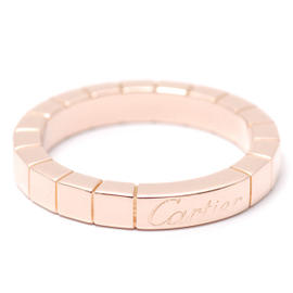 Cartier 750 Pink Gold Lanier Ring Size 5.25