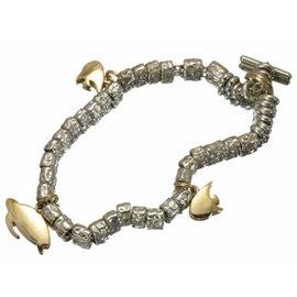Pomellato 925 Sterling Silver & 750 Yellow Gold DoDo Turtle Sunfish Bracelet