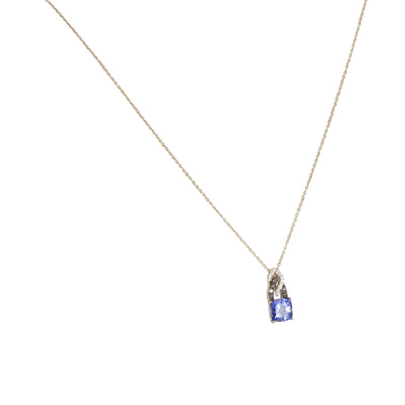 "Image of ""Le Vian 14K Rose Gold 1.40cts Blueberry Tanzanite Choc Vanilla Diamond"""