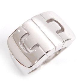 Bulgari 750 White Gold Parentesi Ring Size 5.25