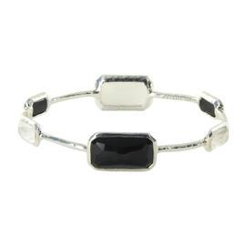 Ippolita 925 Sterling Silver Mother Of Pearl & Onyx Bracelet