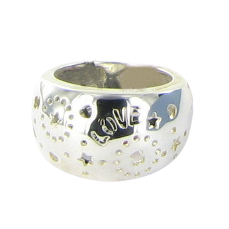 """Image of """"Tous 925 Sterling Silver Lyra Dome Love Bears Ring Size 7"""""""