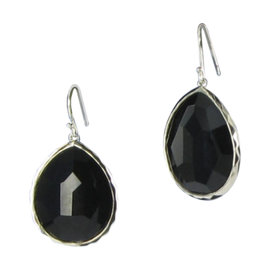 Ippolita Rock Candy 925 Sterling Silver Black Onyx Teardrop Earrings