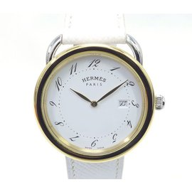Hermes Aruso AR5.720 Stainless Steel and Yellow Gold 38mm Mens Watch