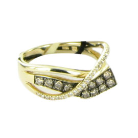 Le Vian 14K Rose Gold Honey Gold Choco Vanilla Diamonds Gladiator Wraps Ring Size 7