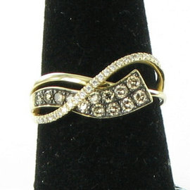 Le Vian 14K Rose Gold Honey Gold Choco Vanilla Diamonds Gladiator Wraps Ring Size 7