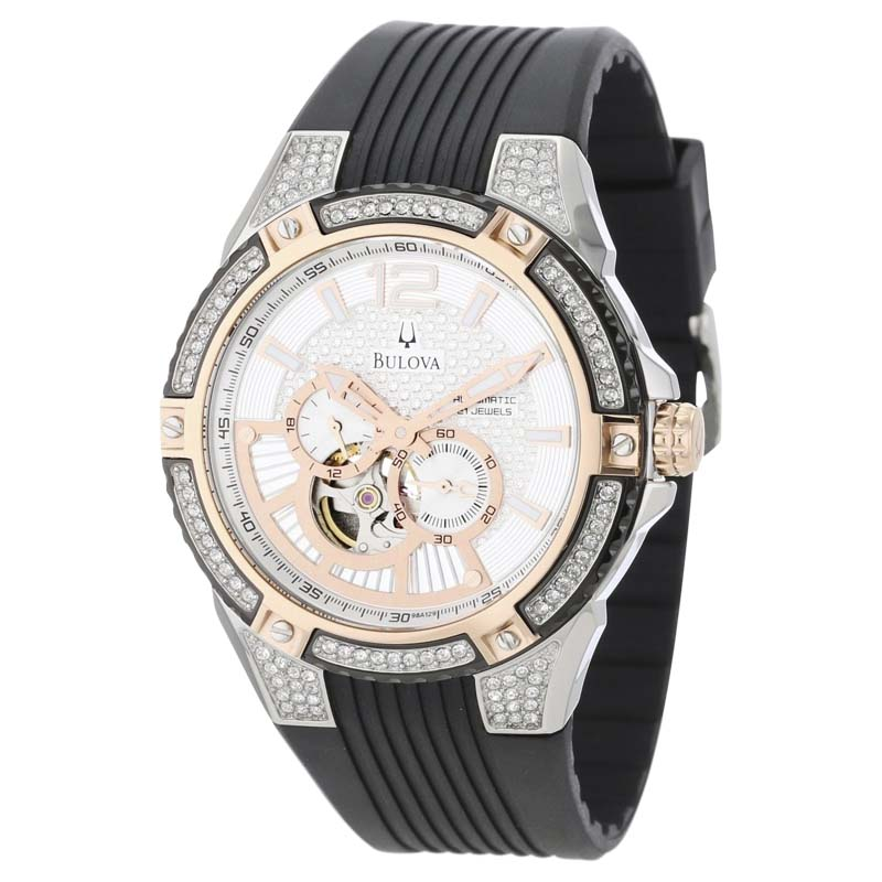 """Image of """"Bulova 98A129 Stainless Steel 44mm Mens Watch"""""""