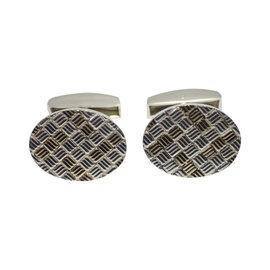 Tiffany & Co. 925 Sterling Silver 14K Yellow Gold Cufflinks