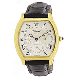 Chopard 2248 18K Yellow Gold & Leather Silver Dial Automatic 32mm Mens Watch