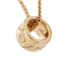 Chopard 750 Rose Gold Dissimo Diamond Pendant Necklace