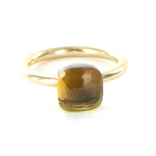 """""Pomellato 18K Rose Gold Medium Nudo Smoky Quartz Ring Size 5"""""" 1417717"