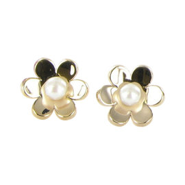 Tous Happy 925 Sterling Silver 18K Rose Gold with Pearl Earrings