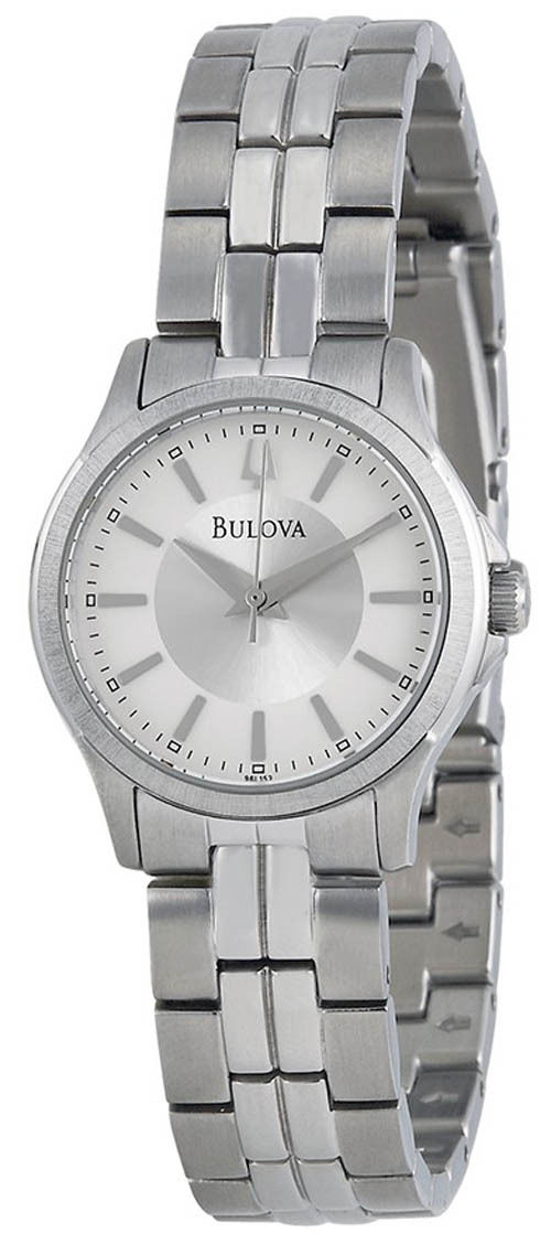 """Image of """"Bulova 96L152 Silver Dial Stainless Steel 28mm Womens Watch"""""""