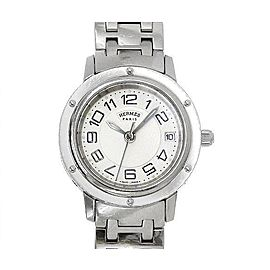 Hermes Clipper Classic CP1 210 Stainless Steel Silver Dial Quartz 24 mm Womens Watch