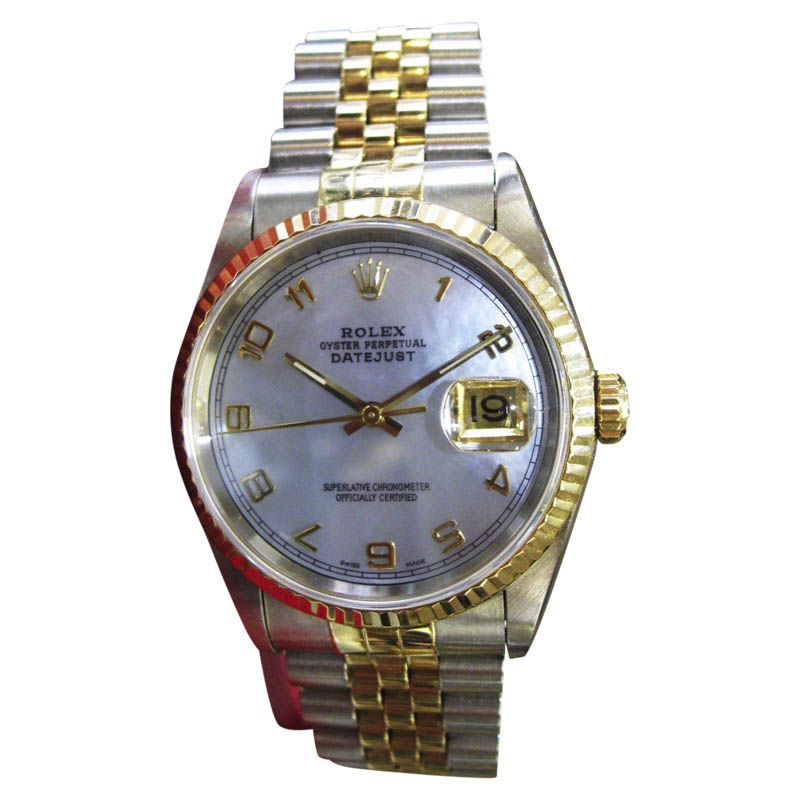 """Image of """"Rolex Datejust Yellow Gold and Stainless Steel Blue Mother-of-Pearl"""""""