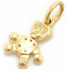 Pomellato 750 Yellow Gold Top Animal Motif Pendant Necklace