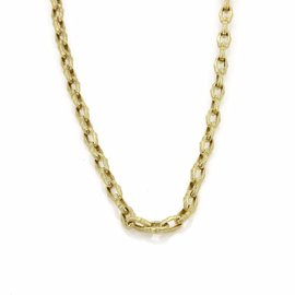 Roberto Coin 18K Yellow Gold Fancy Oval Link Chain Toggle Clasp Necklace