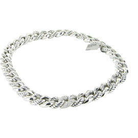 David Yurman Belmont 925 Sterling Silver & Diamond Necklace