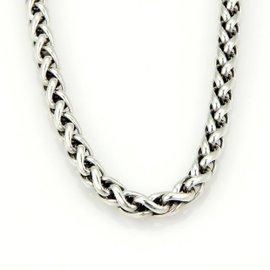 David Yurman 925 Sterling Silver & 14K Yellow Gold Wheat Woven Chain Necklace