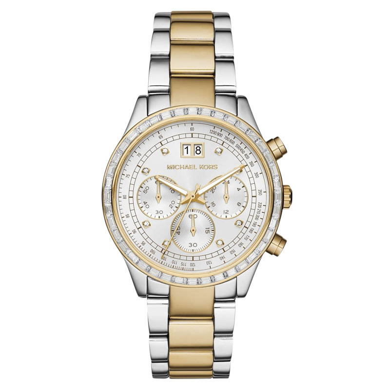 """Image of """"Michael Kors Mk6188 Two Tone Stainless Steel 40mm Womens Watch"""""""