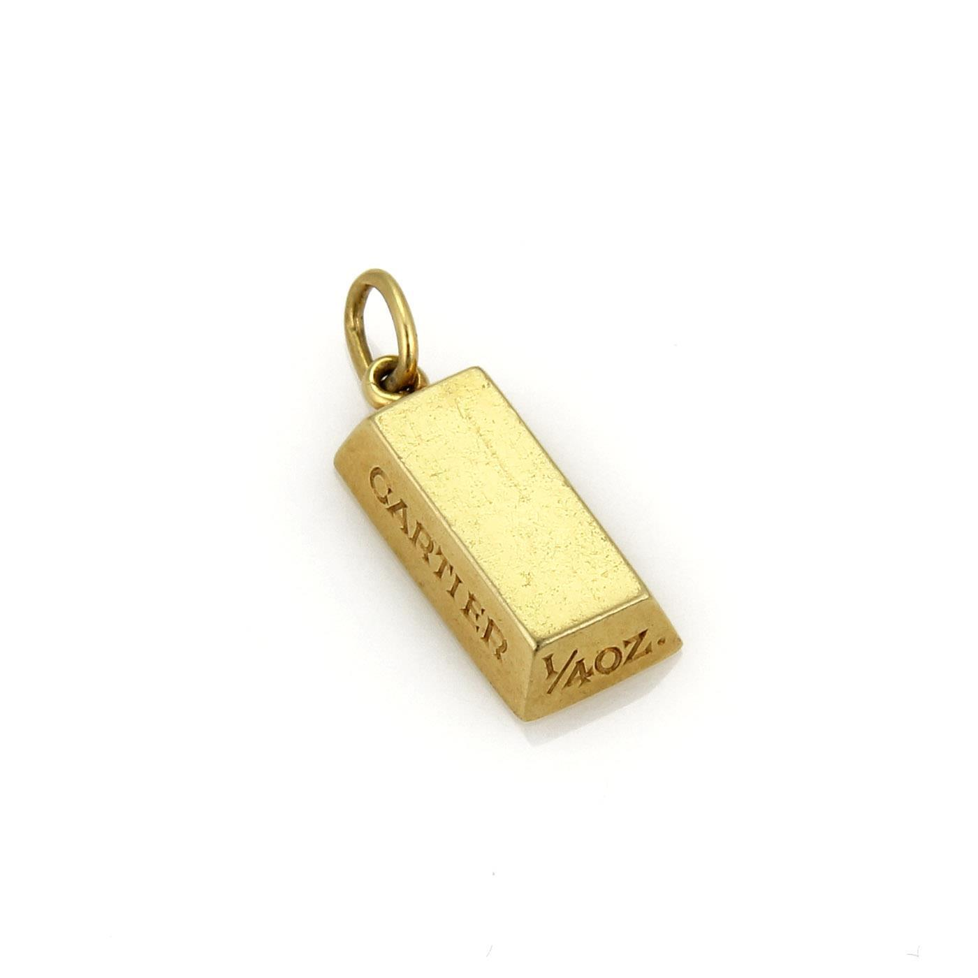 "Image of ""Cartier 18K Yellow Gold Ingot Bar Charm Pendant"""