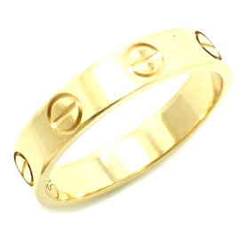 Cartier 18K Yellow Gold Mini Love Ring Size 4.0
