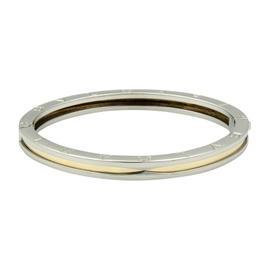 Bulgari B Zero-1 18K Yellow Gold & Stainless Steel Oval Bangle Bracelet