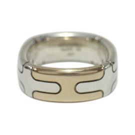 Hermès 925 Sterling Silver Bronze Ring Size 7.5-8