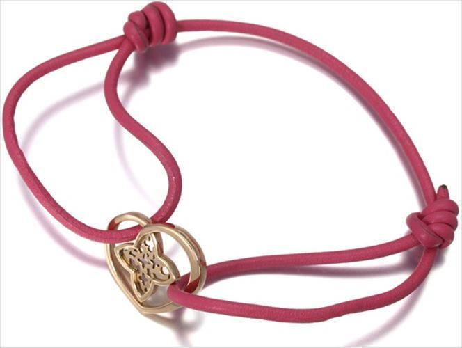 "Image of ""Louis Vuitton 18k Rose Gold and Leather Bracelet"""