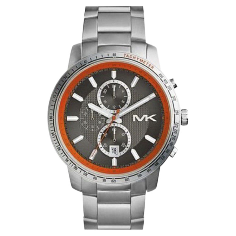 "Image of ""Michael Kors Mk8341 Stainless Steel Black Dial Quartz 45mm Men's Watch"""